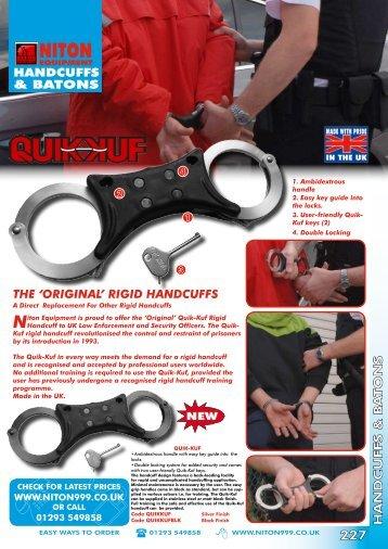 rigid handcuffs - Niton 999 Equipment