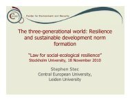 Resilience and sustainable development norm formation - Juridicum