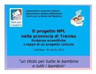 presentazione progetto NPL area montebellunese - Biblioteca ...
