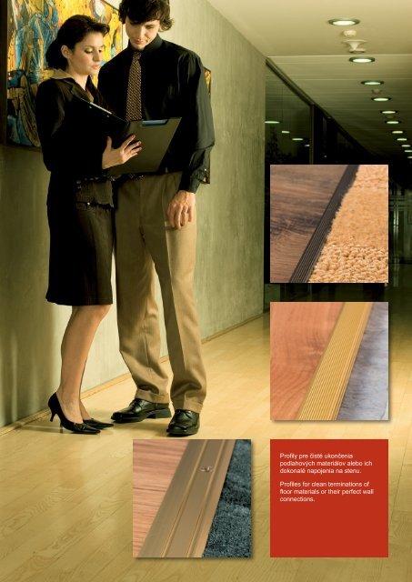 Profily pre čisté ukončenia podlahových materiálov alebo ... - Eurofinal