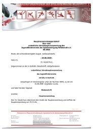 Protokoll ordentliche Jahreshauptversammlung ... - SpVgg Wildenroth