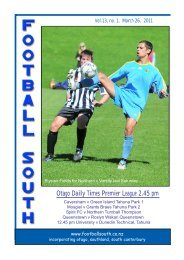 Otago Daily Times Premier League 2.45 pm  - Football South