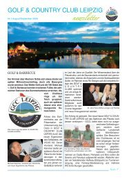 GOLF & COUNTRY CLUB LEIPZIG Newsletter