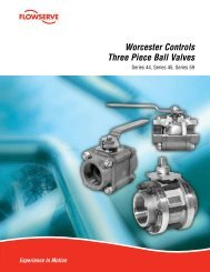 Worcester Controls Three Piece Ball Valves - Flowserve Corporation
