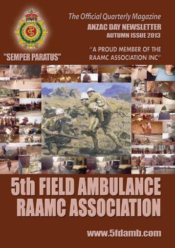 ANZAC Newsletter - RAAMC Association