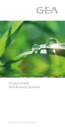 Product Guide GEA Brewery Systems - GEA Wiegand GmbH
