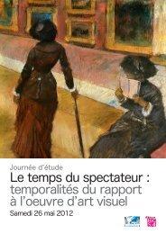 Le temps du spectateur - Histoire culturelle et sociale de l'art