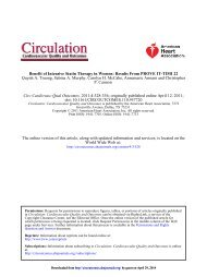 Benefit of Intensive Statin Therapy in Women - Circulation ...