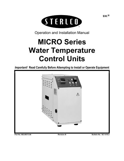 MICRO Series Water Temperature Control Units - Sterling