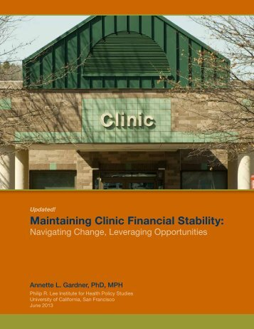Maintaining Clinic Financial Stability: - Blue Shield of California ...