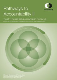 Pathways to Accountability II – the revised Global ... - One World Trust