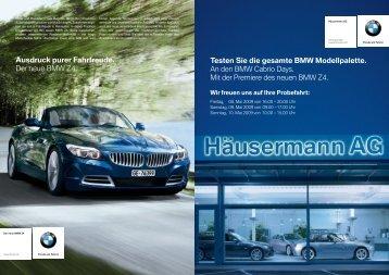 Testen Sie die gesamte BMW Modellpalette. An den BMW Cabrio ...