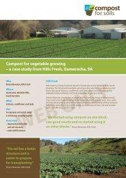 Hills Fresh - vegetable growing - Compost for Soils