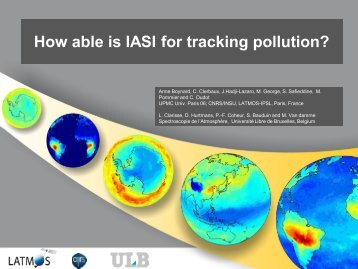 How able is IASI for tracking pollution? - IUP
