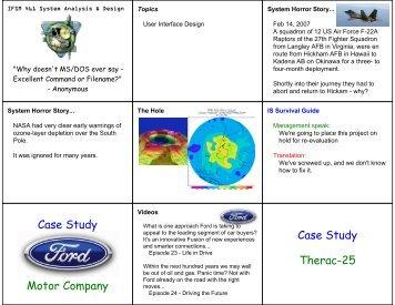 Case Study Motor Company Case Study Therac-25