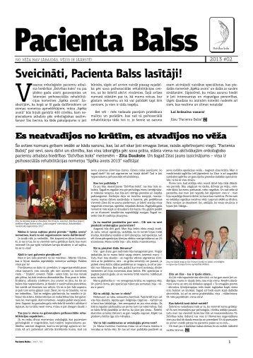 Pacienta Balss izdevums PDF formātā - Dzīvības koks