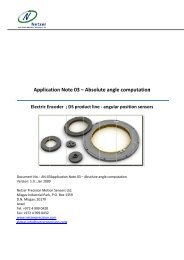Application Note 03 – Absolute angle computation - Netzer