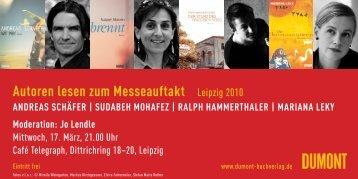 Autoren lesen zum Messeauftakt Leipzig 2010