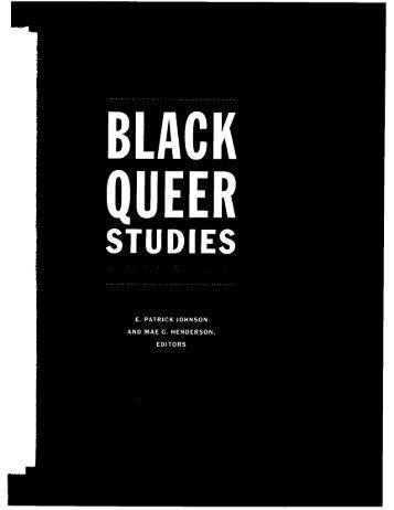 "Dwight A. McBride, ""Straight Black Studies: On African American ..."