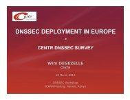 DNSSEC DEPLOYMENT IN EUROPE - - Nairobi - icann