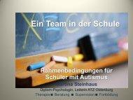 Ein Team in der Schule Rahmenbedingungen für Schüler mit  Autismus ...