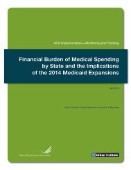 Financial Burden of Medical Spending by State and ... - Urban Institute
