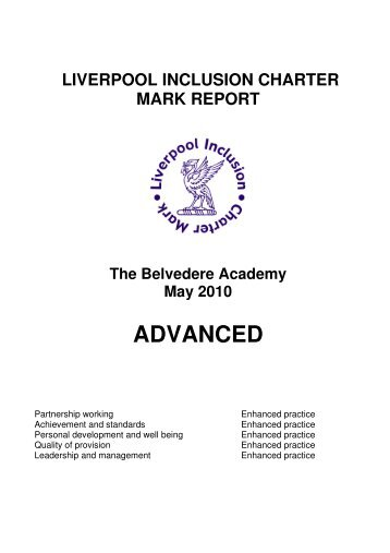 Inclusion Charter Report.pdf - The Belvedere Academy