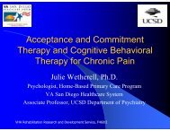 Acceptance and Commitment Therapy and Cognitive Behavioral ...