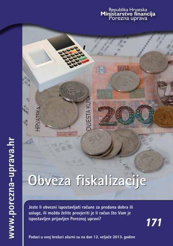 Obveza fiskalizacije Obveza fiskalizacije - Porezna uprava