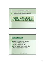 Mobilité et Planification des Déplacements Urbains ... - Euromedina
