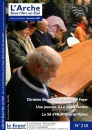 Dec 2007 n°218 - Foyer Notre-Dame des Sans-Abri