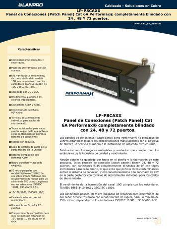 LP-P8CAXX Panel de Conexiones (Patch Panel) Cat 6A ... - LanPro