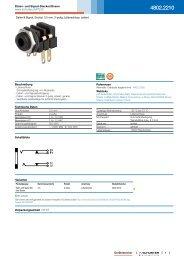 4802.2210 - Daten- und Signal-Stecker/Dosen - Schurter