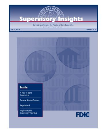 FDIC Supervisory Insights Summer 2009