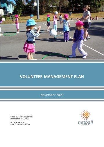 National Volunteer Management Plan - Netball Australia