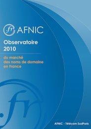 Observatoire du marché des noms de domaine en France ... - Afnic