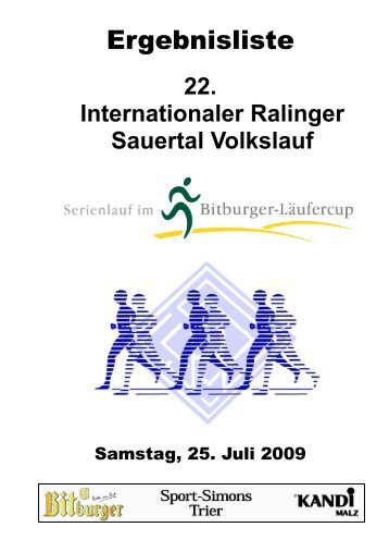 22. Internationaler Ralinger Sauertal Volkslauf