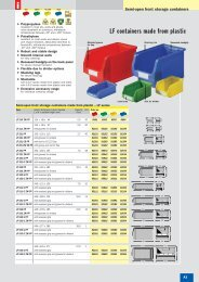 LF containers made from plastic - SSI SCHAEFER