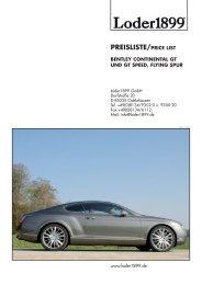 PREISLISTE/PRICE LIST - Loder1899