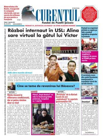 Război internaut în USL: Alina sare virtual la gâtul lui Victor - Curentul