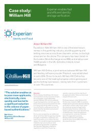 Case study: William Hill - Experian