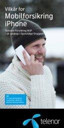 Brosjyre og vilkår for Mobilforsikring iPhone - Telenor