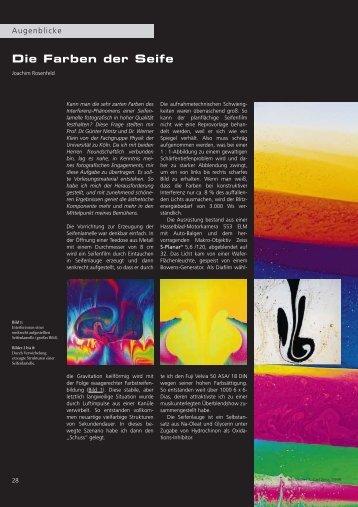 Die Farben der Seife - Carl Zeiss