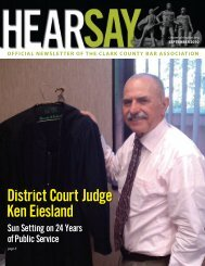 District Court Judge Ken Eiesland - Clark County Bar Association