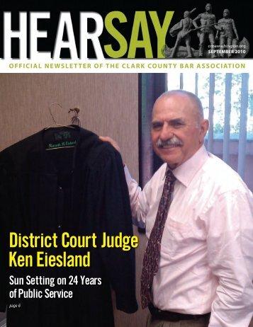 District Court Judge Ken Eiesland - Clark County Bar Association