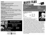 Opens April 6, 2012 IN THE GALLERIES AT THE ... - Salina Art Center