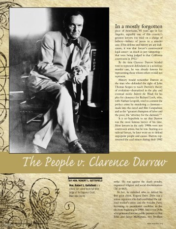 The People v. Clarence Darrow - Lawyers