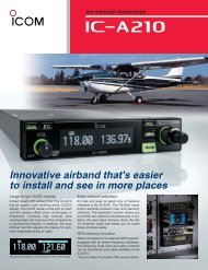 Innovative airband that's easier to install and see in ... - Icom Australia