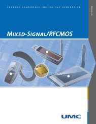 Mixed-Signal/RFCMOS - UMC