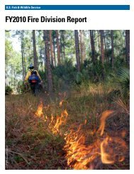 FY2010 Fire Division Report - U.S. Fish and Wildlife Service